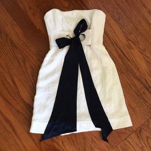 Nanette Lepore  sleeveless silk sash brocade dress
